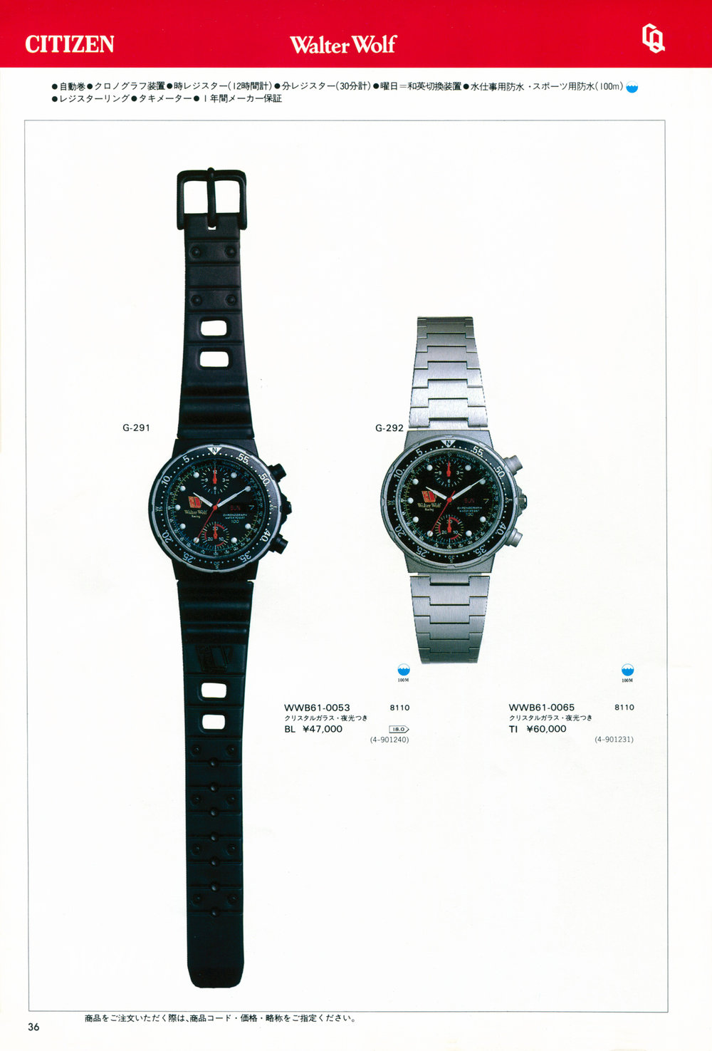 Citizen 1983-6 JDM Catalog