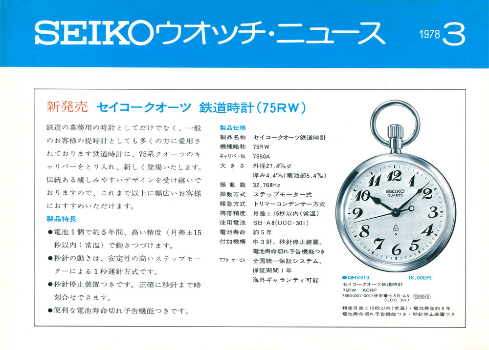 Seiko News 1978 March