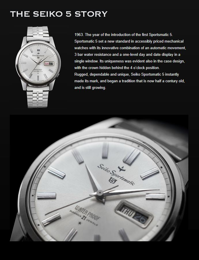 Seiko 5 Website Image