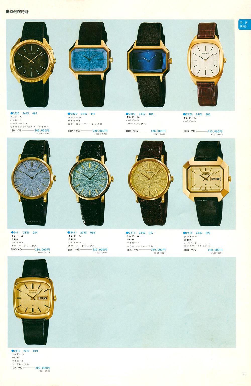 1975 Seiko Vol.1 Example Page