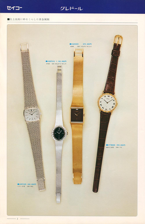 1976 Seiko Vol.1 Example Page