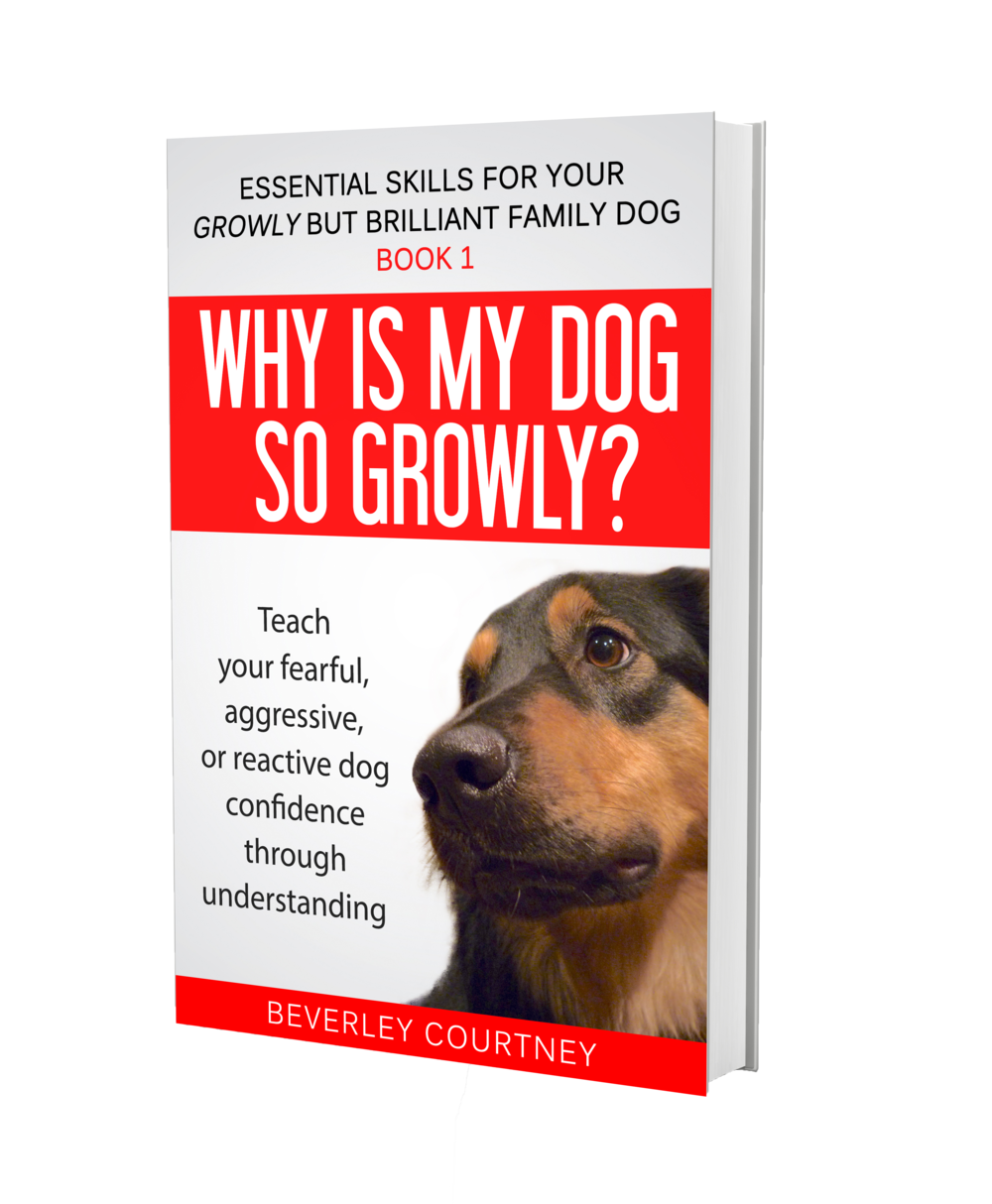 Dog training book, aggressive dog, reactive dog | Why is my Dog so Growly? Book 1 by Beverley Courtney | www.brilliantfamilydog.com