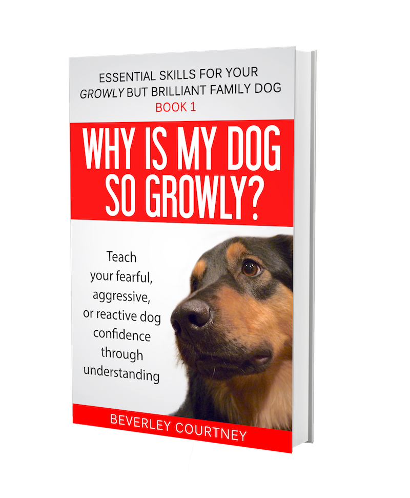 Reactive dog, aggressive dog | Growly Dog book 1  | CLICK FOR DETAILS | #reactivedog, #aggressivedog | www.brilliantfamilydog.com