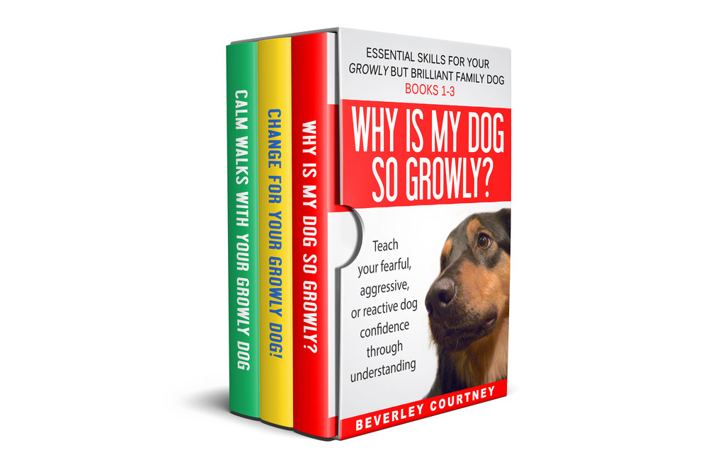 Reactive dog, aggressive dog | Growly Dog Boxset, books 1-3 | CLICK FOR DETAILS | #reactivedog, #aggressivedog | www.brilliantfamilydog.com