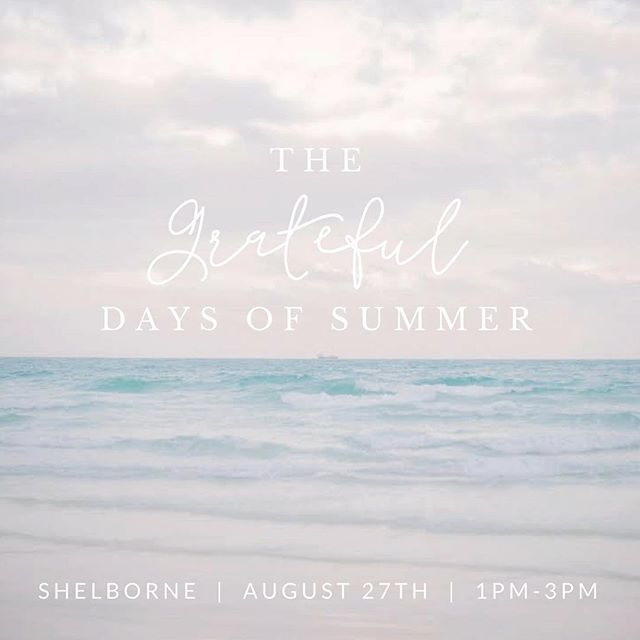 Wondering what your August 27th could look like? Head over to the blog as we walk you through The Grateful Days of Summer! We are pouring our heart into every detail and can't wait to share this special day with you at the Shelborne, where we will have fun while giving back to our community in so many ways. Be part of this Sunday Funday like no other. Direct link in bio! 🍾🌿☀️🍸🍰🌟 #GiftingForGood #GratefulDays