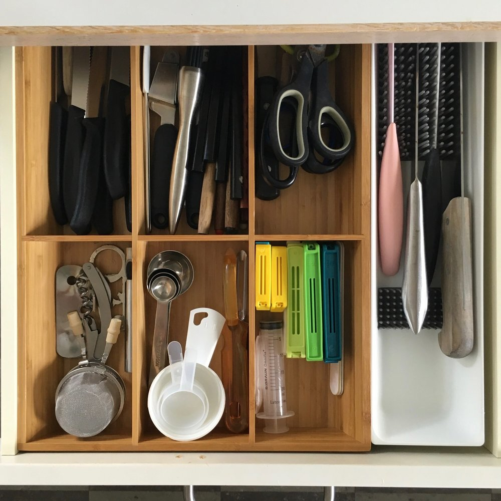 Kitchen drawer after