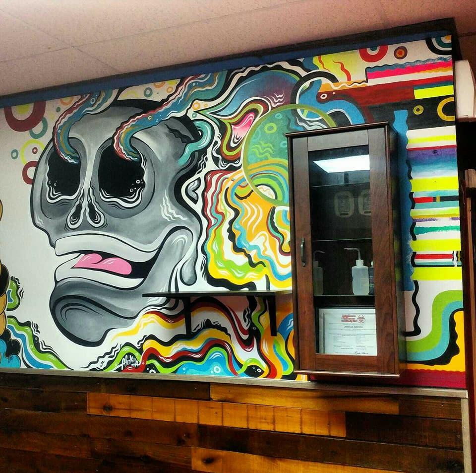 Black atlas studios mural