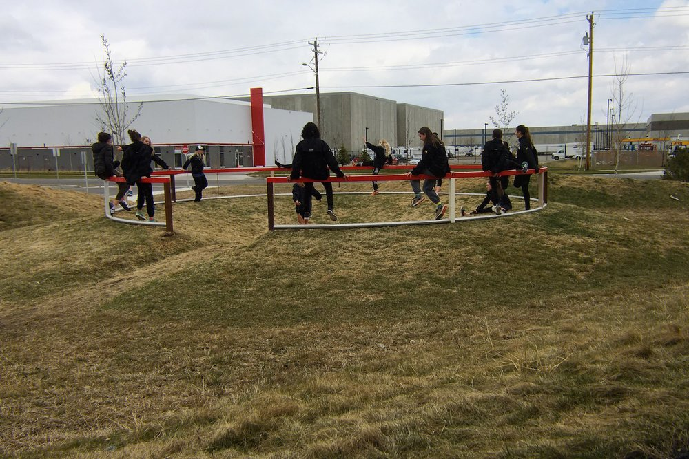 ^ Hockey team warms-up before the big game (April 2017)