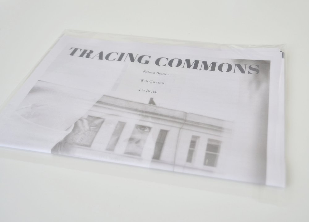 Tracing Commons , 2017  Digital colour print on newspaper  Edition of 50