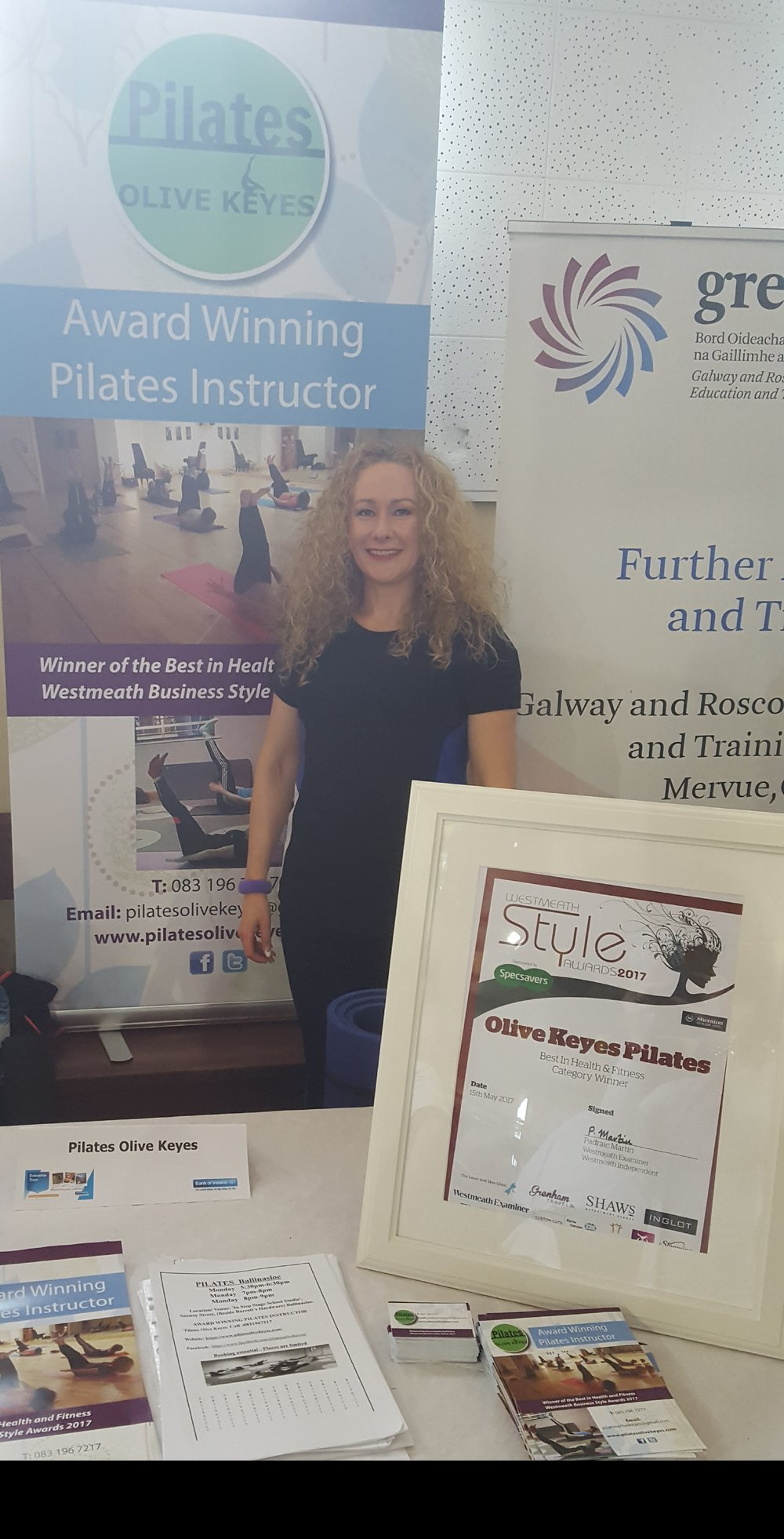 Winner of the Best in Health and Fitness   Westmeath Business Style Awards 2017