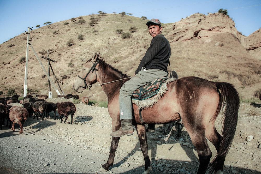 Kyrgyz herder, Bazar-Korgon, Kyrgyzstan.jpg