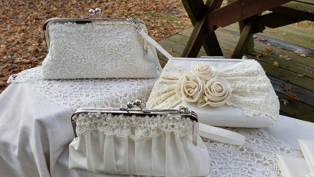 Purses from vintage wedding dresses u dunham designs