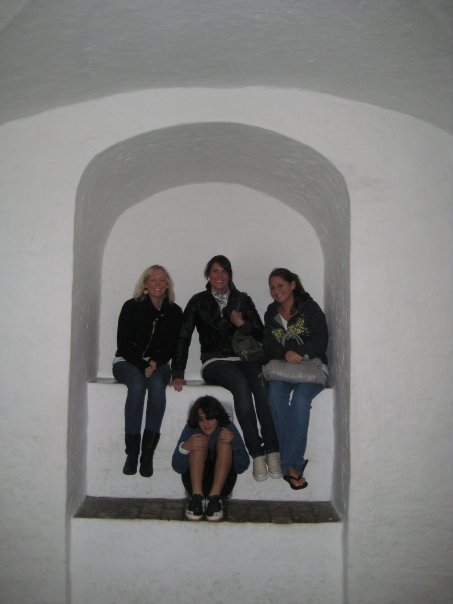 My brother & I in 2008 with our two Danish Au Pair's at Rundetårn