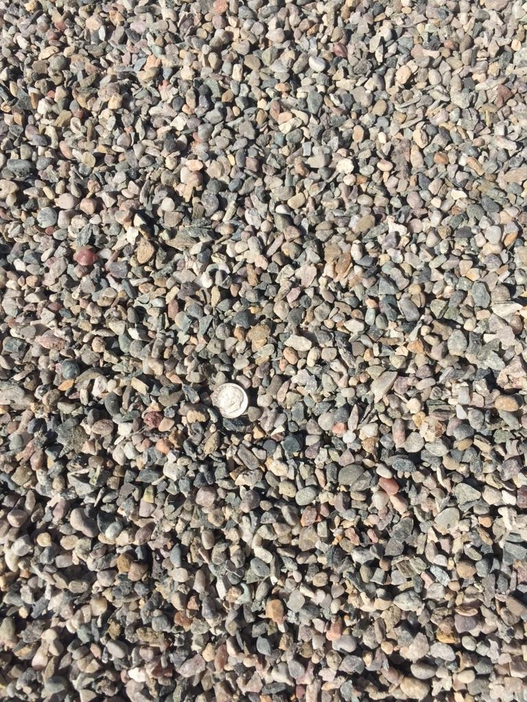 "3/8"" Crushed  Crushed rock used for drainage backfill, mixing concrete and landscaping"