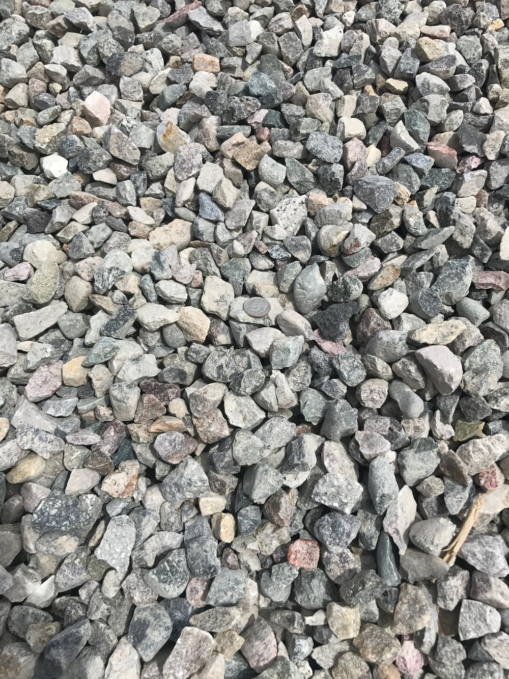 "1"" Crushed  Crushed rock used for drainage backfill, mixing concrete and landscaping"