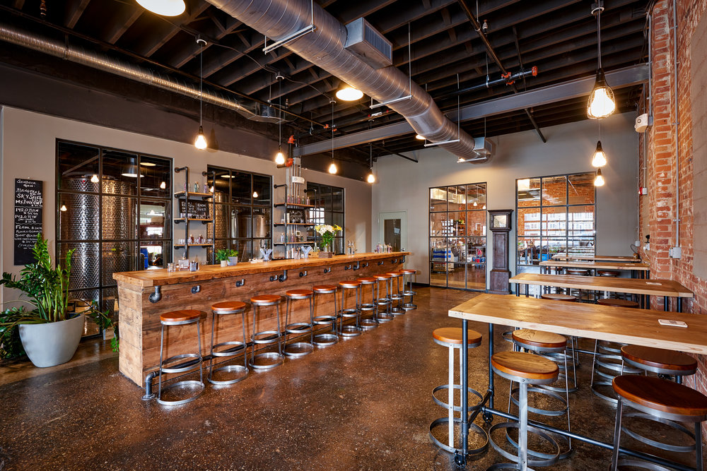 Tasting Room with Bar and Tables