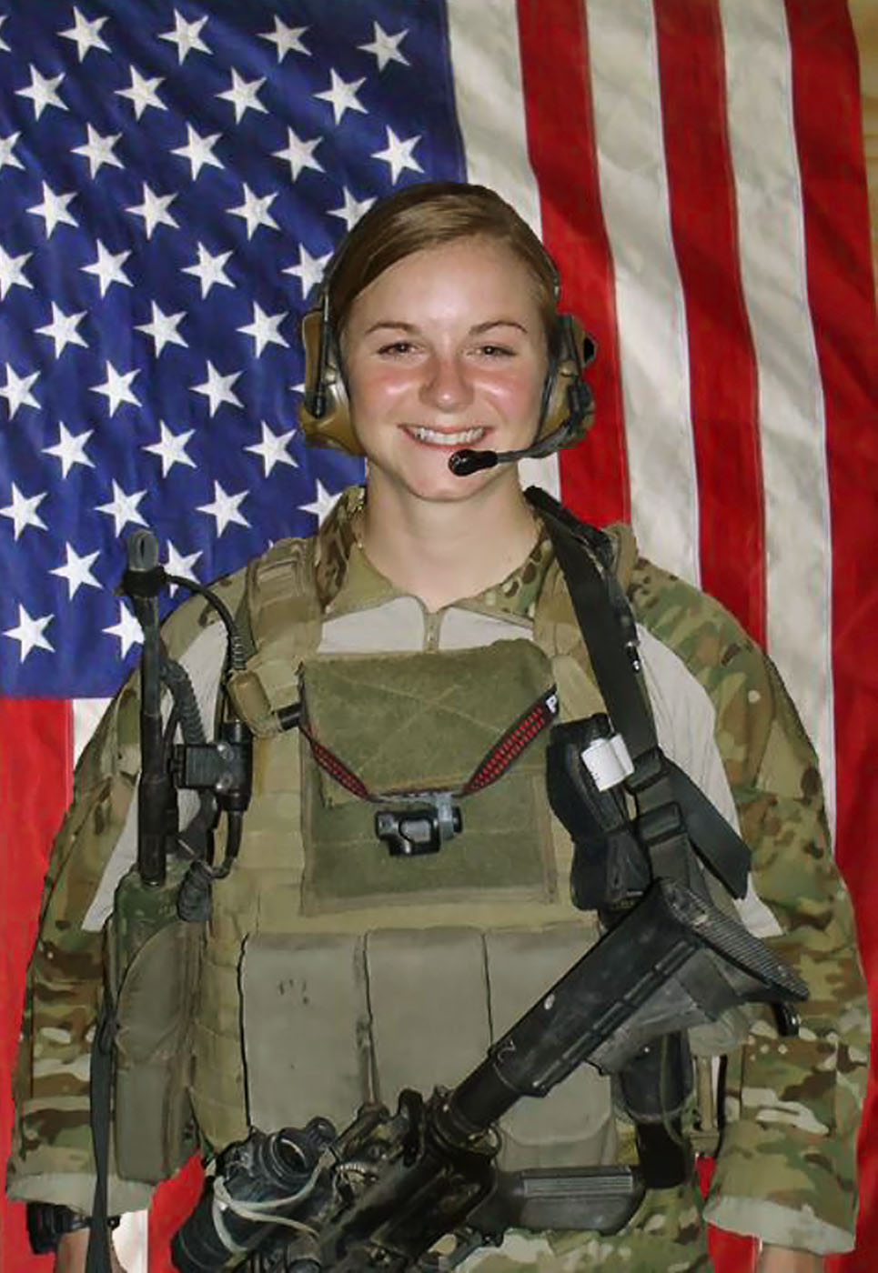 U.S. Army First Lieutenant Ashley White, 24, of Alliance, Ohio, assigned to the 230th Brigade Support Battalion, 30th Heavy Brigade Combat Team, North Carolina National Guard, based in Goldsboro, North Carolina, died on October 22, 2011 in Kandahar province, Afghanistan, from wounds suffered when insurgents attacked her unit with an improvised explosive device. She is survived by her husband Captain Jason Stumpf, her parents Robert and Deborah, brother Josh, and sister Brittney.
