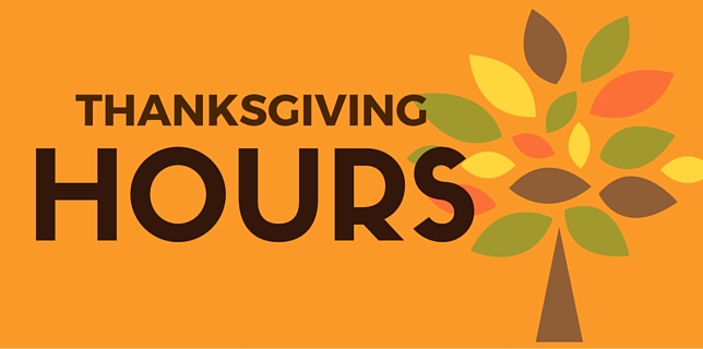 WEDNESDAY, NOVEMBER 22:  NO 6:30P CLASS OR 7:30P ON-RAMP CLASS (ALL OTHER CLASSES ARE REGULAR HOURS; LAST CLASS WILL BE 5:30P  THURSDAY, NOVEMBER 23 - THANKSGIVING:  CLOSED  FRIDAY, NOVEMBER 24 - BLACK FRIDAY:  ONE CLASS AT 10A  SATURDAY, NOVEMBER 25:  REGULAR HOURS