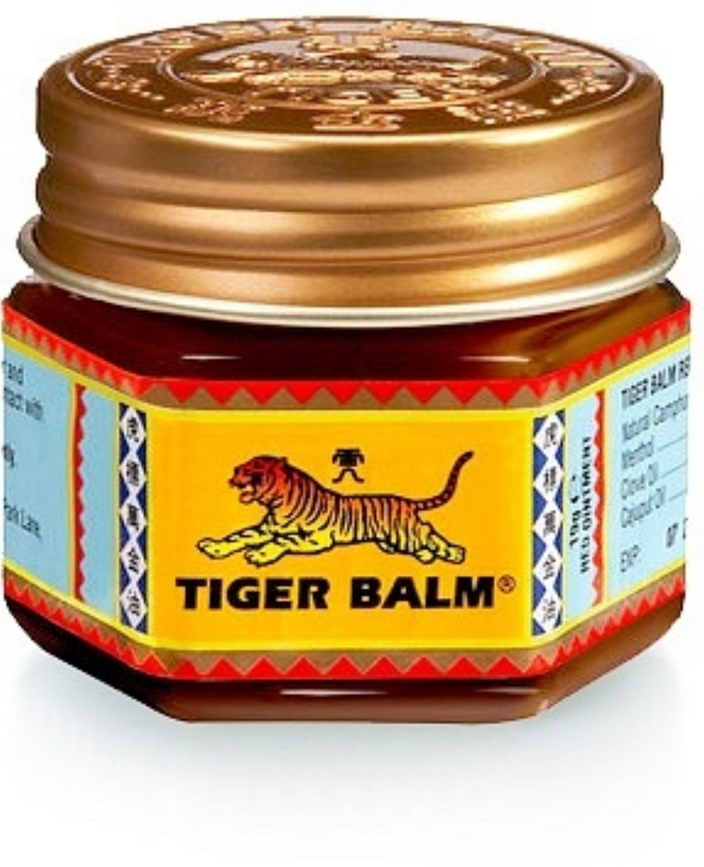 the original tiger balm from thailand is the ultimate sports massage rub for fast recovery of sore muscles from over exertion.