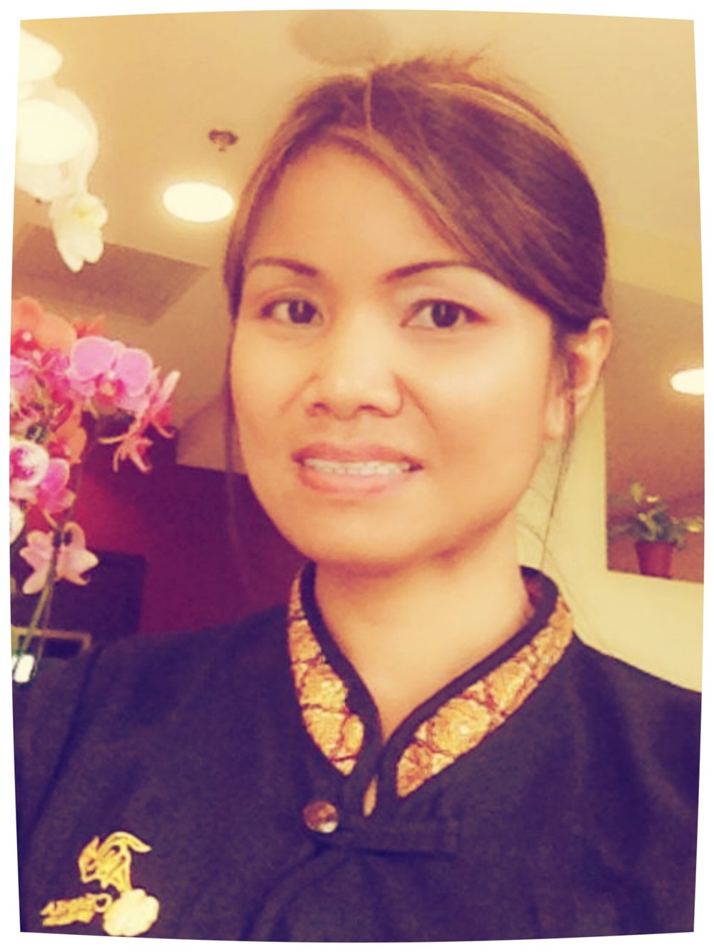 THIERLamai Jumpaburi Coyle graduated from Shivagakomarpaj School of Thai Massage, Old Medicine Hospital, Chiang Mai, Thailand with certification in Traditional Thai Massage in 2010. Lamai is a Licensed and Certified Massage Therapist in state of Virginia since 2011.
