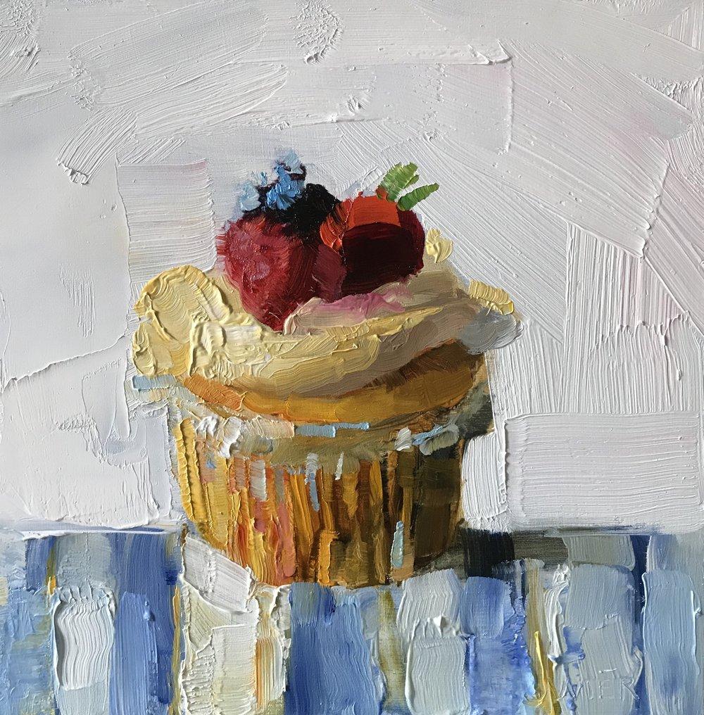 Triple Berry Cupcake