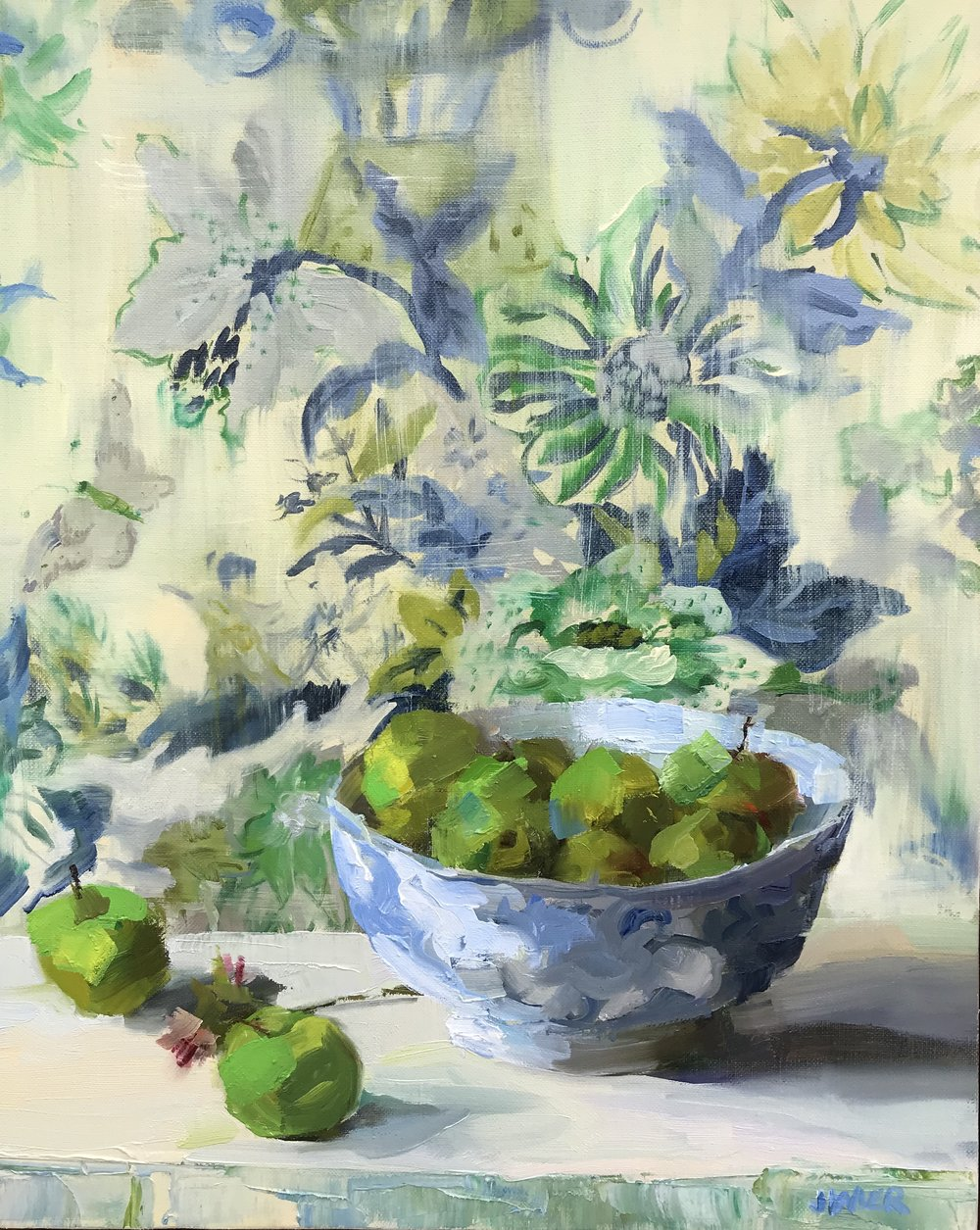 Green Apples in Canton Bowl