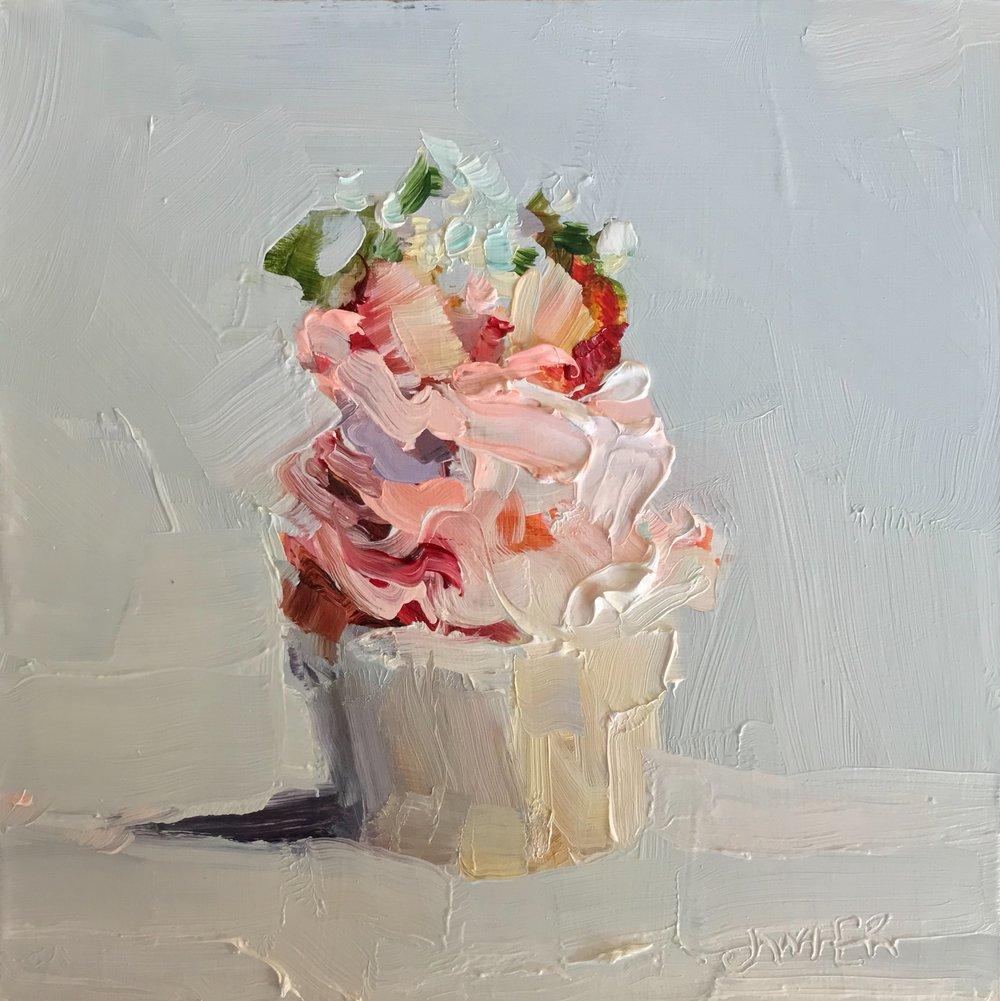 Strawberry Split Cupcake