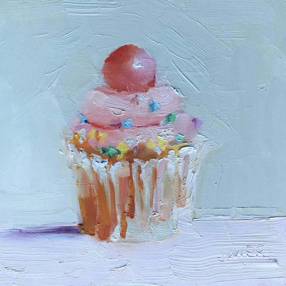 Bubblegum Ball Cupcake