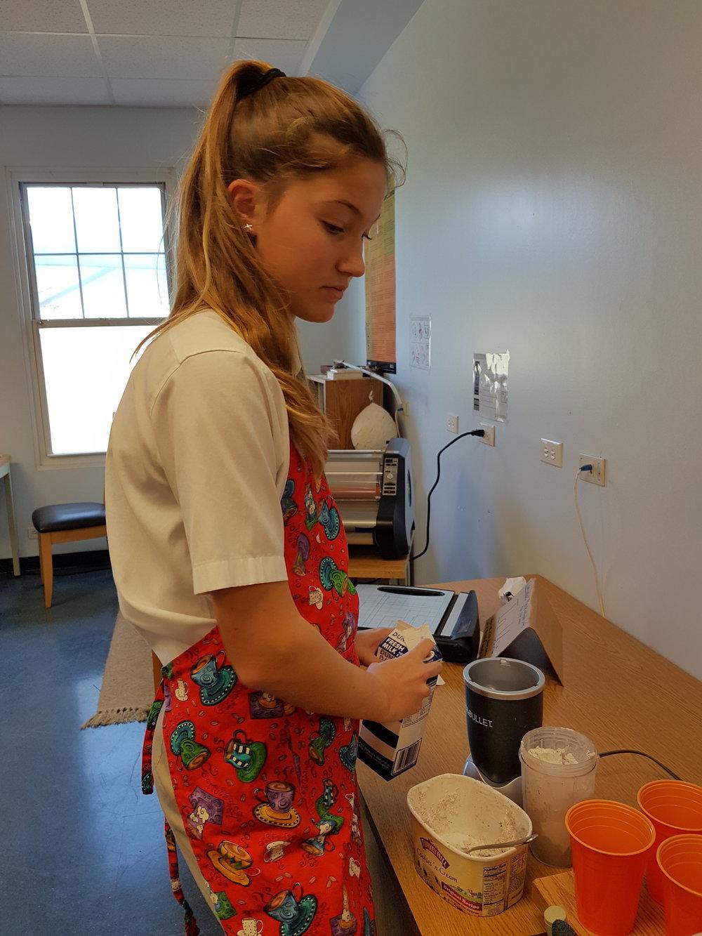 Morgan making milkshakes.jpg