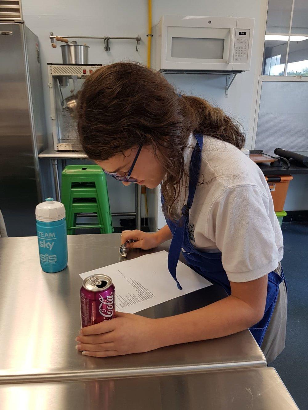 Stephanie studying recipe.jpeg