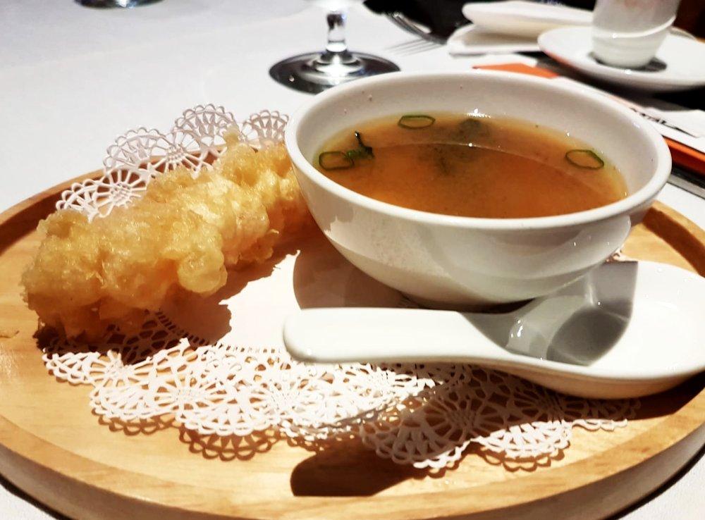 Shrimp Tempura and Miso Soup!