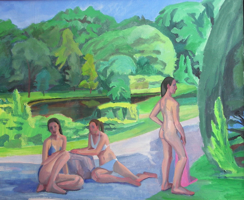 Three Bathers by Douglas Giebel