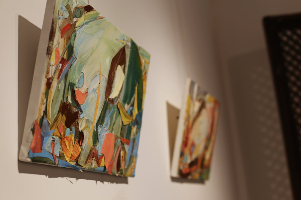 Artworks displayed at the exhibition