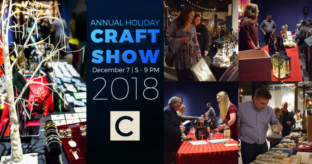Images from 2017 Annual Craft Show & Taste of the Holidays  -  Photo Credit Suzanne Baker (left) and staff photos (right)