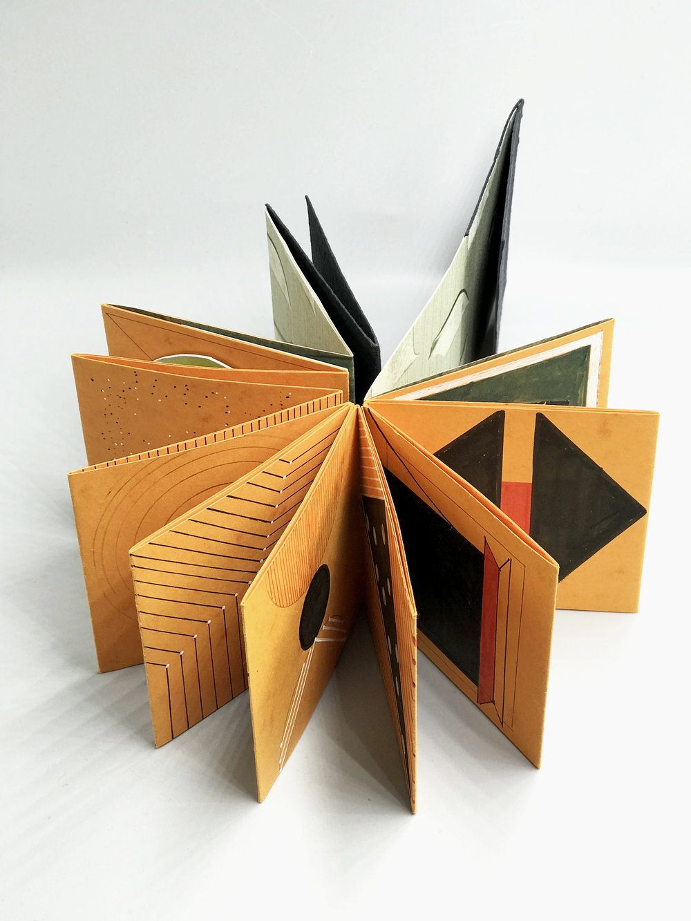 GEOMETRY BOOK I, Chang Liu, 152 X 75 mm, Artist's Book, 2018