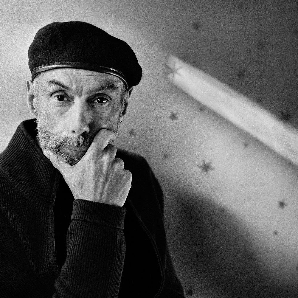 John Singletary, Artist Paul Cava at His Home, 2014