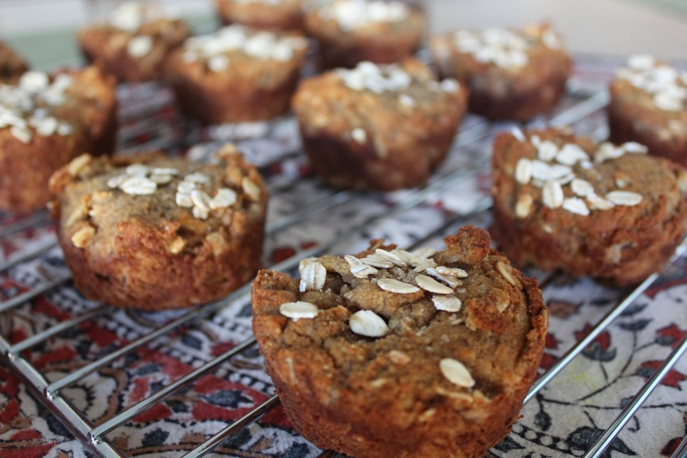 Honey Oat Banana Muffins (Gluten Free) Recipe on www.natashawellness.com