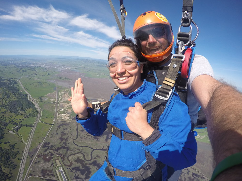 Book your Novato skydive today