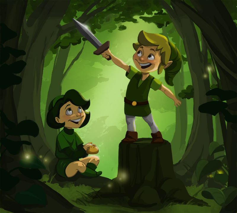 link_and_saria__woods_kids_by_twiggymcbones-d2y9t5w.jpg