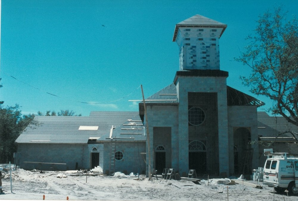 Construction of our current building. 1997.