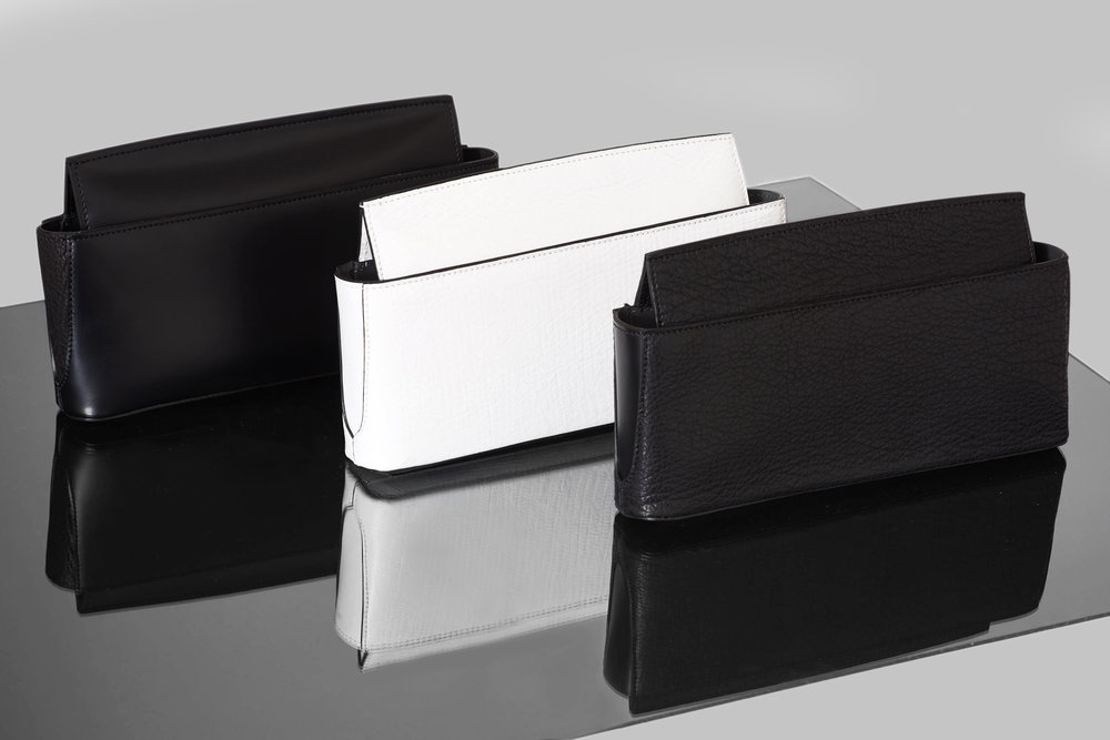 Black and White Leather Clutches