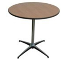 "30"" Round Cocktail Tables 42"" Tall - Rental Rate: $11.50 ea."