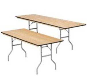 6' & 8' Rectangle Tables - Rental Rate: $8.00 ea.