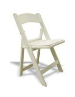 Chairs - Padded, White - Rental Rate: $2.95 ea.