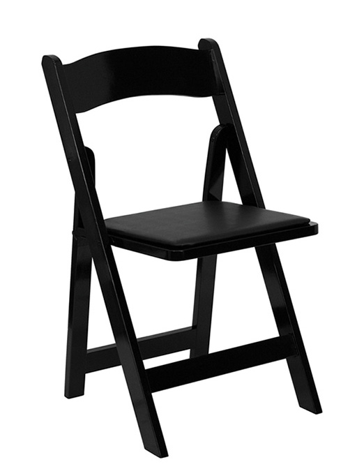 Chairs - Padded, Black - Rental Rate: $2.95 ea.