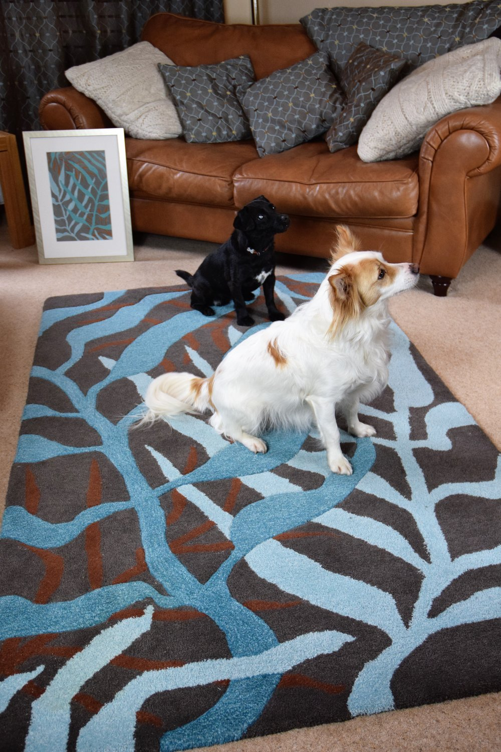 Leaf one off bespoke hand tufted rug commission.jpg