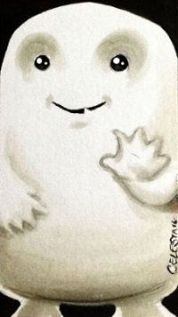"""Adipose on 2""""x3.5"""" personalized cardstock"""