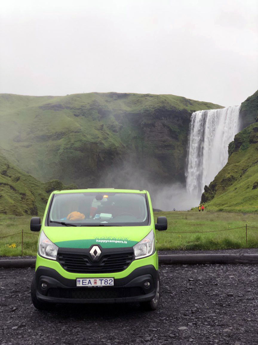 This was one of my favorite spots to camp right next to Skógafoss