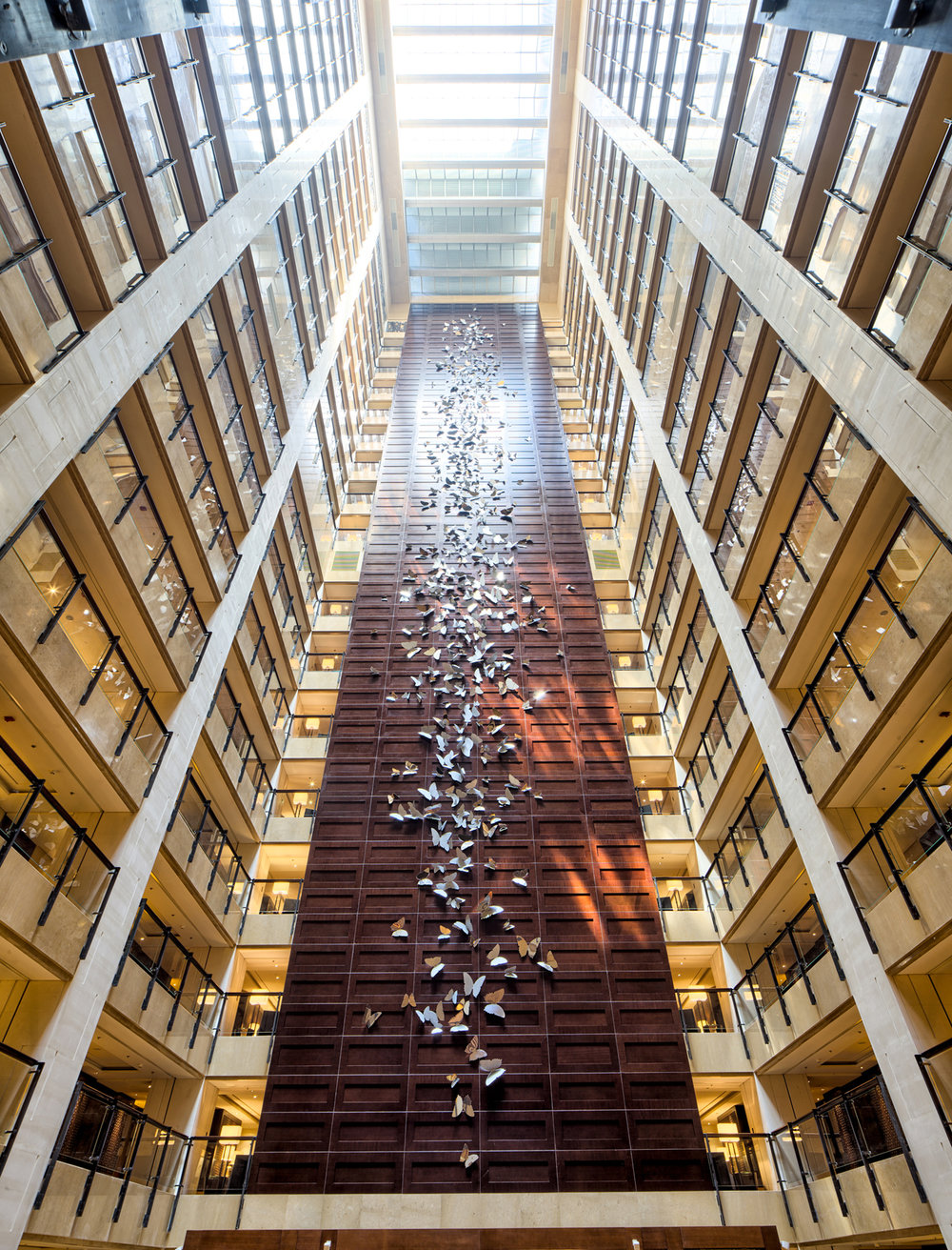 Jayne Dyer,  The Butterfly Effect , 2012, Four Seasons Beijing, 66 x 11m