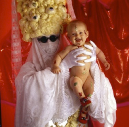 Luke Roberts,  Pope Alice's Miracle Baby , 1993, cibachrome
